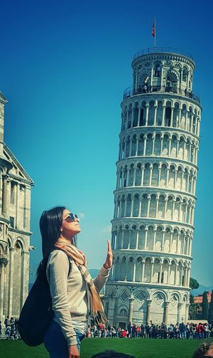 Tower Of Pisa Italy Pretty Girl Travel The World Enjoying The View Eyeemphotography Showcase March Wonders Of The World Pisa, Italy Italia The Week On Eyem Welcome Weekly