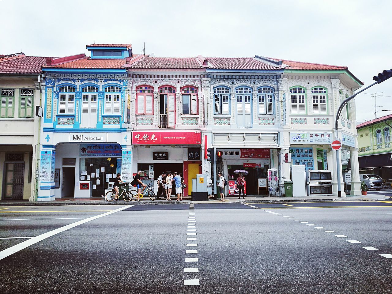 Architecture Outdoors Built Structure Road Building Exterior Day Politics And Government City Sky People Singapore Shophouse City Architecture Cityscape ASIA