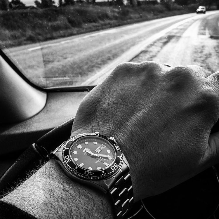 Capture The Moment Orient Ray Watch Automatic Fluid Movement Driving Black And White capturing the moment from my brand new watch