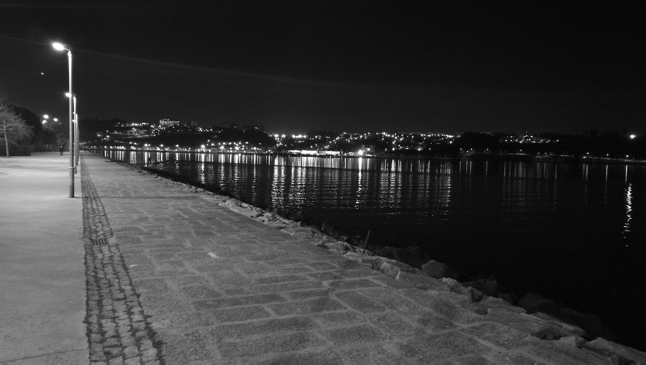 night, illuminated, outdoors, water, no people, sky, architecture, city, nature