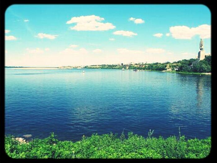 Река Волга прогулка на велосипеде памятник Природа