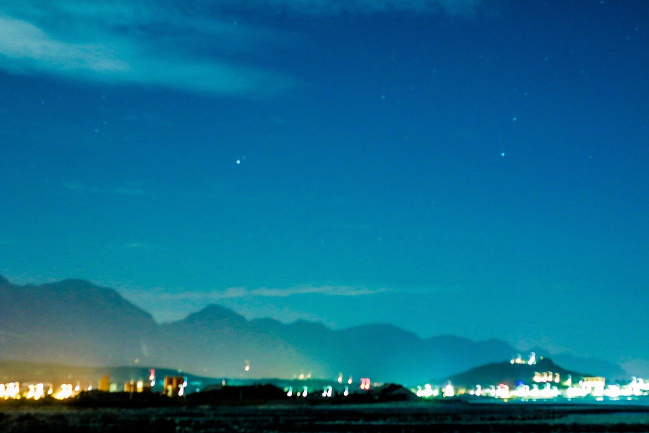 Night Sky Blue Nature No People Outdoors Mountain Star - Space Beauty In Nature