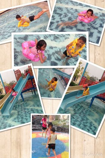 Swimming Pool My Son <3 MyAngel👼myOxigen😻😻😻 Enjoying Life Hanging Out Hanging Out Luv U'R.. Relaxing Life Is A Beach Water Slides