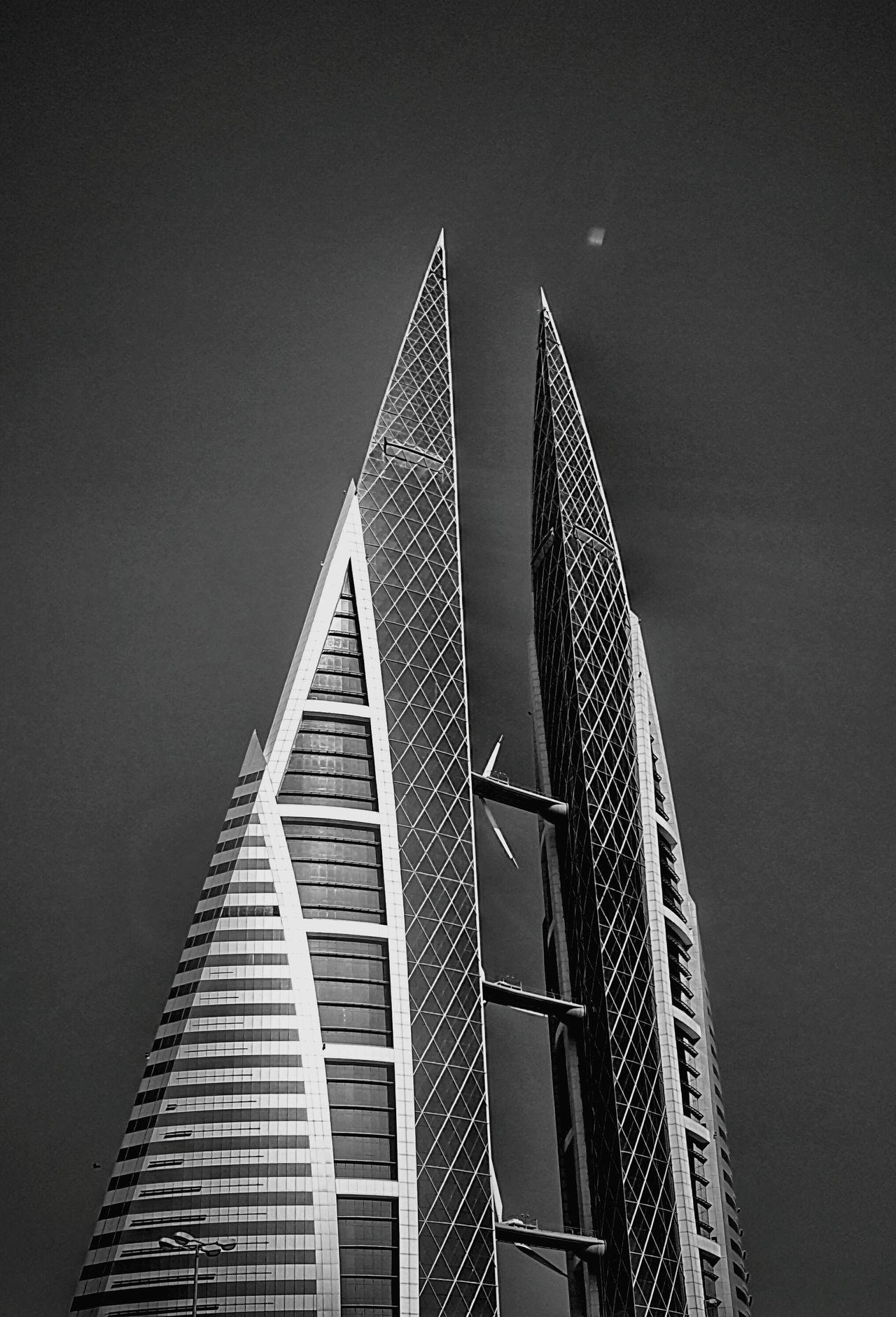Triangle Shape Futuristic Architecture Shape Sky Modern Lifestyles Summer Manama Dubai DXB Monochrome