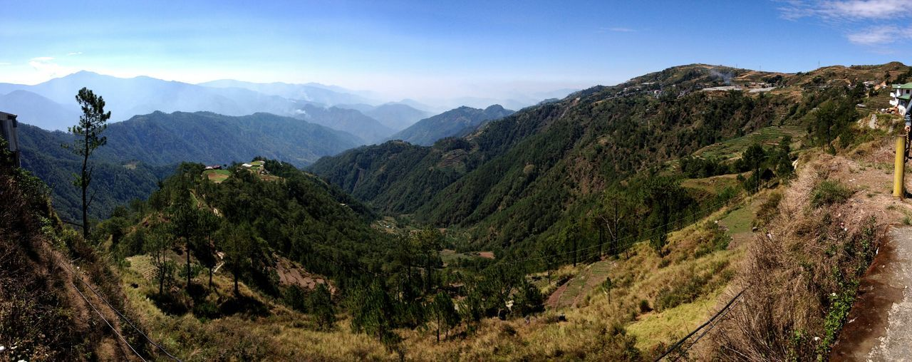 mountain, nature, landscape, beauty in nature, sky, outdoors, no people, panoramic, day, range