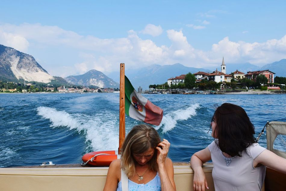 Long Goodbye Two People Water Mountain Vacations Only Women Adults Only Adult People Relaxation Summer Beauty Cloud - Sky Women Togetherness Young Adult Day Young Women Scenics Outdoors Sitting Maggiore Lake Italy