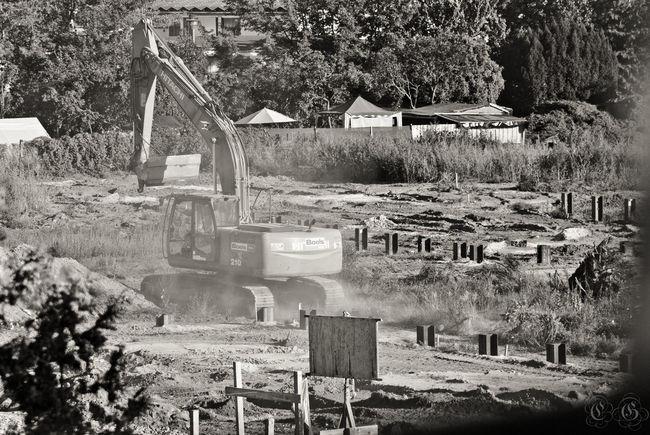 Canon70d Construction Dust Excavator Freedom Machine Monochrome Noise Tree Zoom