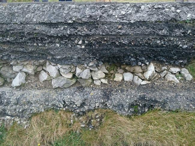 Mam Tor Landslide Road Road Marking Rotational Slip Peak District  Castleton