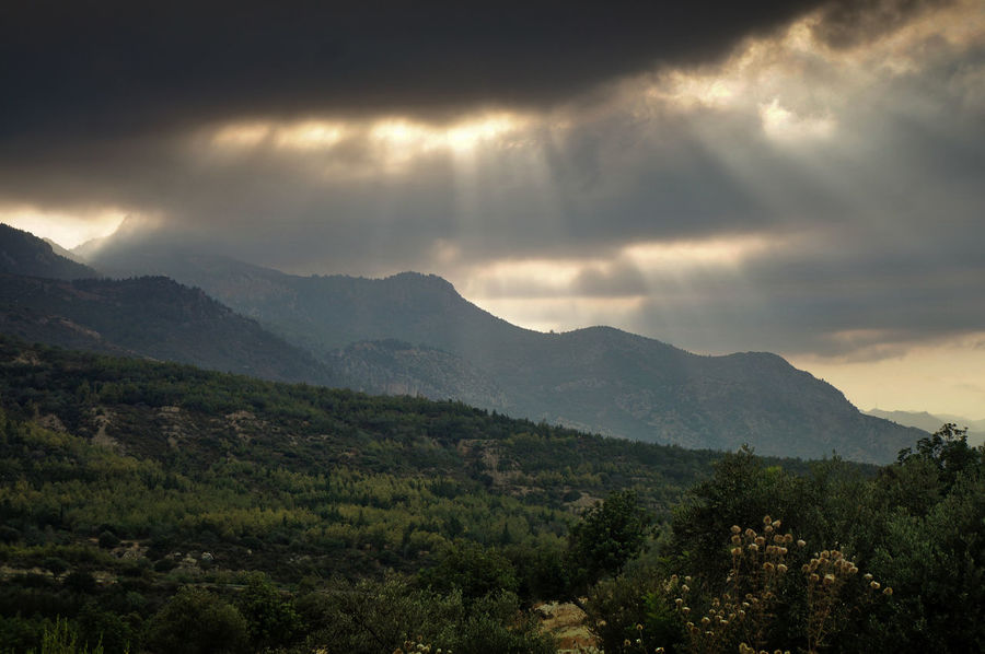 Cyprus Kyrenia Mountains Sunrays Beauty In Nature Besparmak Dusk Landscape Mountain Nature No People North Cyprus Outdoors Scenery Scenics Sky Sunset Tranquility