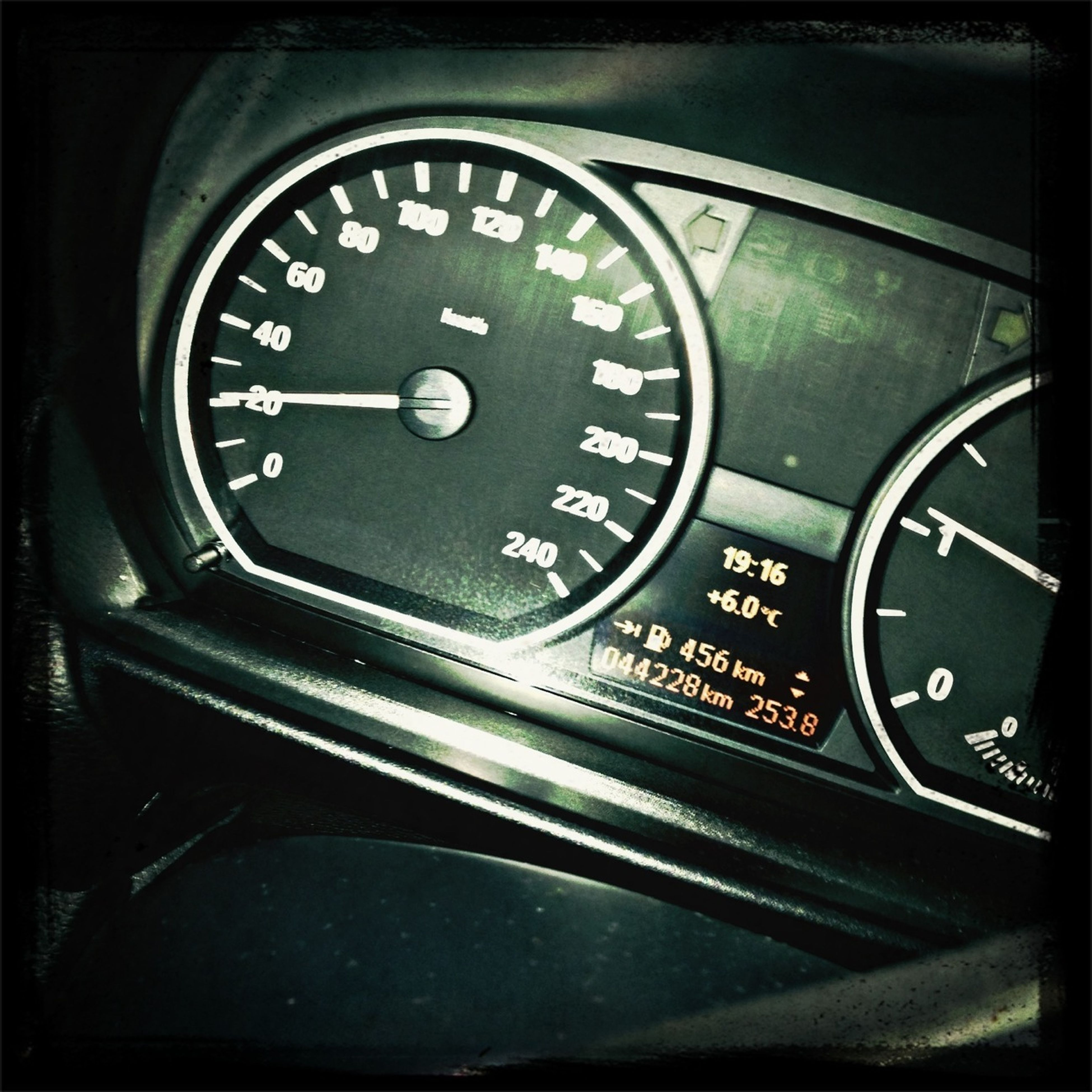 communication, technology, number, indoors, text, close-up, old-fashioned, clock, time, transportation, retro styled, western script, speedometer, car, instrument of measurement, car interior, accuracy, connection, part of, metal