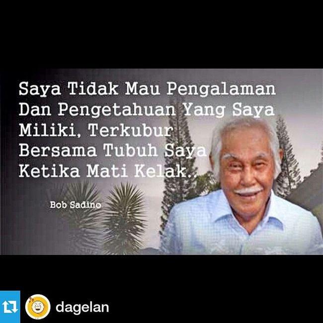 Repost @dagelan ・・・ Selamat jalan om Bob :D Kami akan merindunan sosokmu.. Dagelan