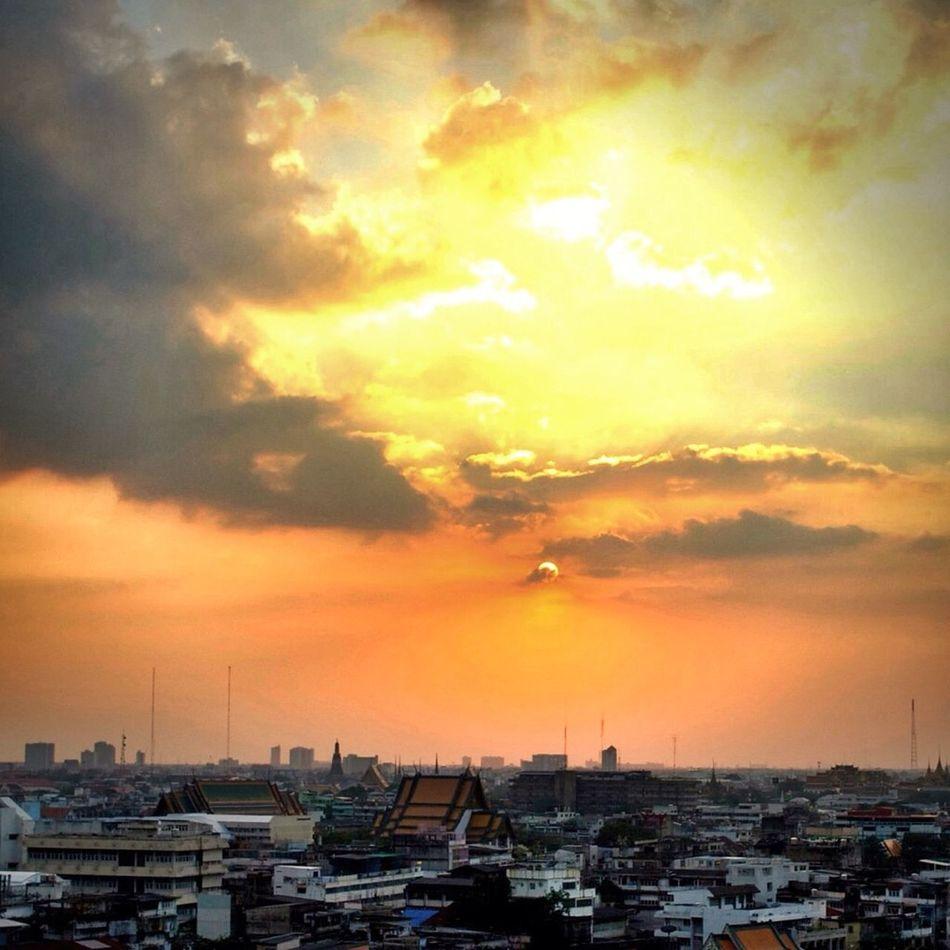 Sunset Thailand Bangkok Skyline Sky