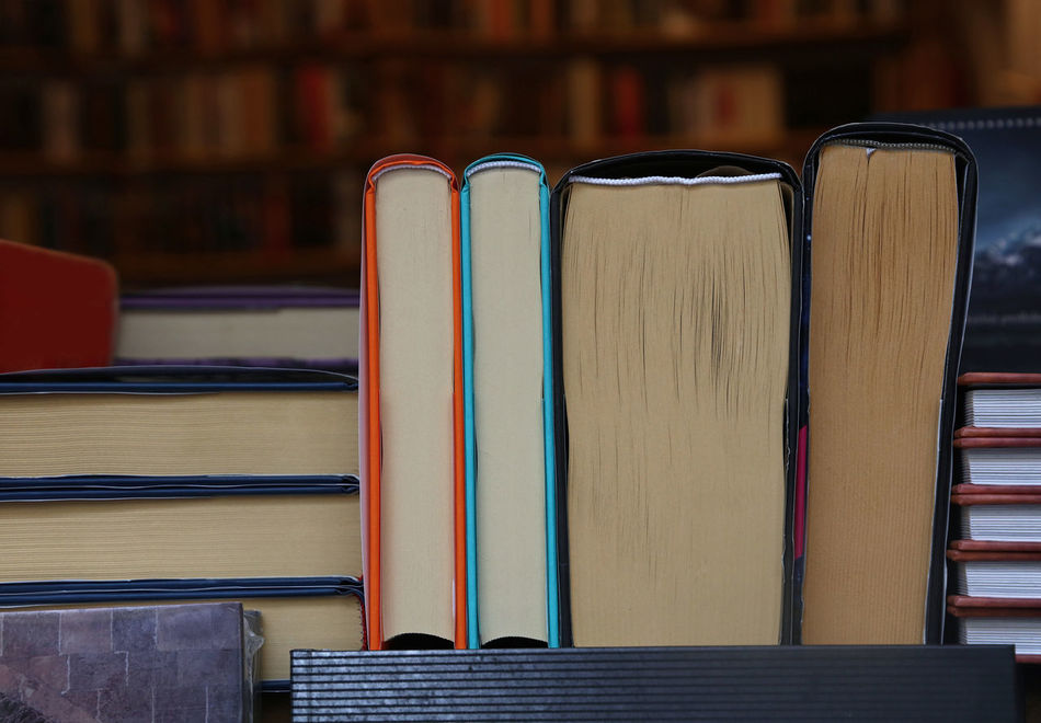 Books on wooden shelves of the store Book Bookshelf Bookshop Bookstore Day Display Education EyeEm Diversity Indoors  Knowledge Lerning Library No People Paper Paper Book  Reading Reading A Book School Selection Shooping Side View Street The Shop Around The Corner