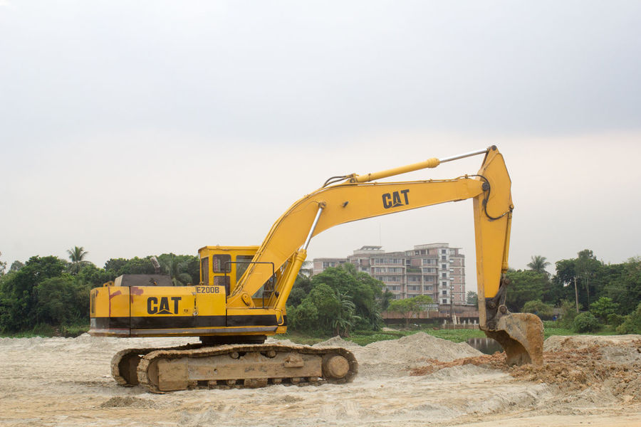 Perspectives On Nature Building - Activity Construction Machinery Construction Site Day Digging Earth Mover Machinery No People Outdoors Sky