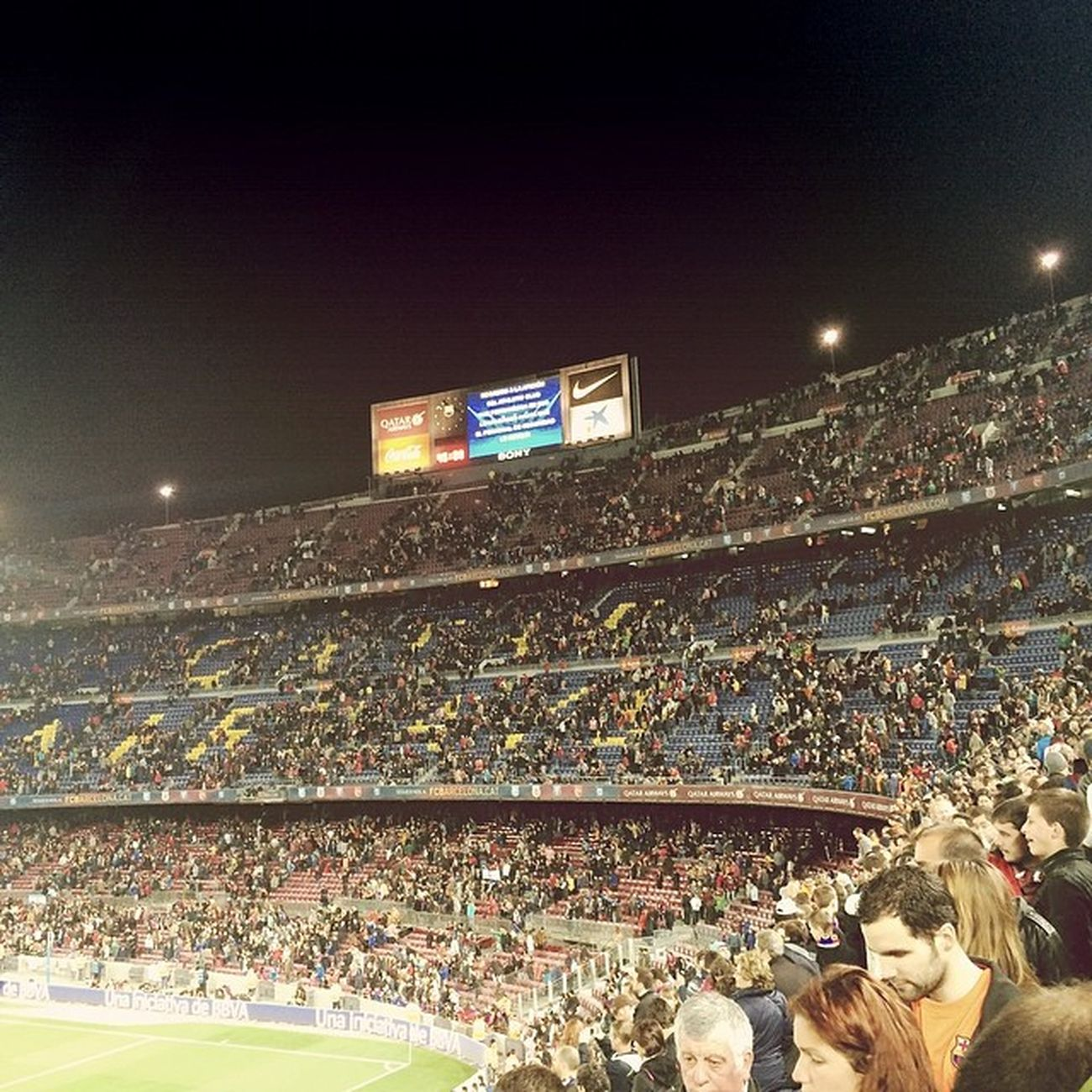 not-so-great camp nou ambiance, first win after three losses streak anyway Campnou FCB FCBarcelona  LaLiga Messi Pedro