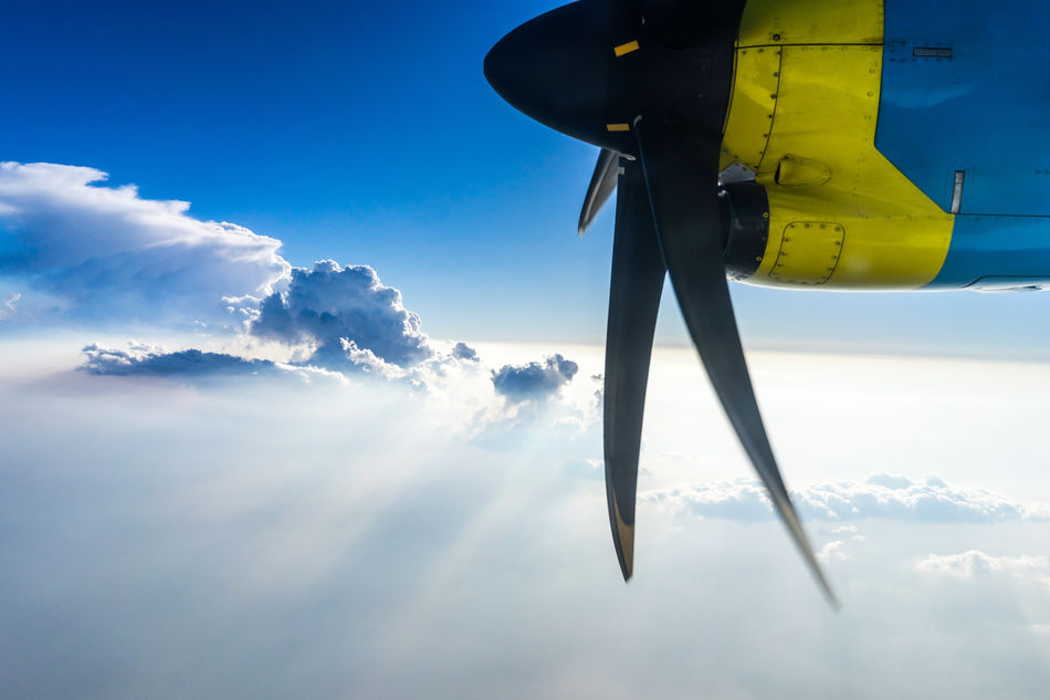 Beautiful stock photos of plane, sky, low angle view, nature, day