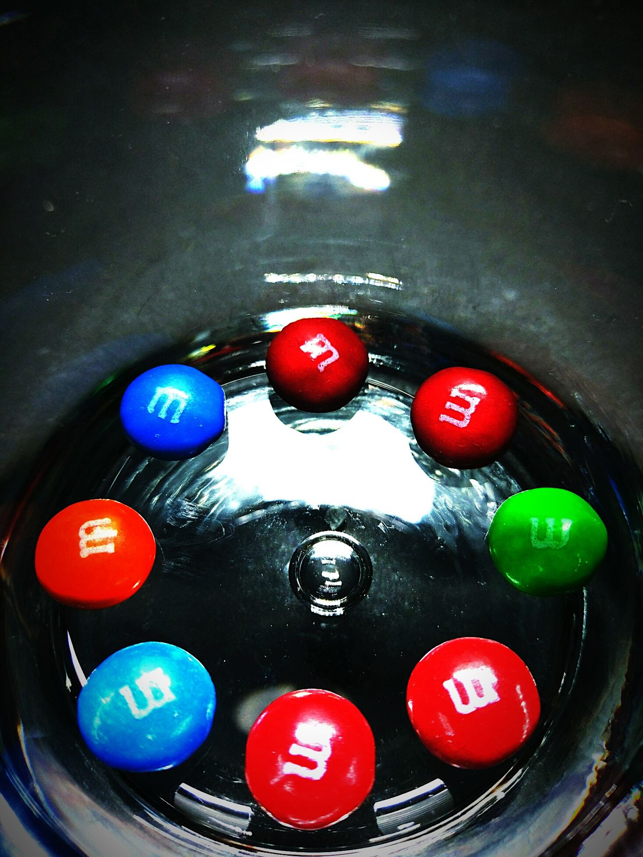 No People Multi Colored Close-up Indoors  MandMs Candy Glass Still Life