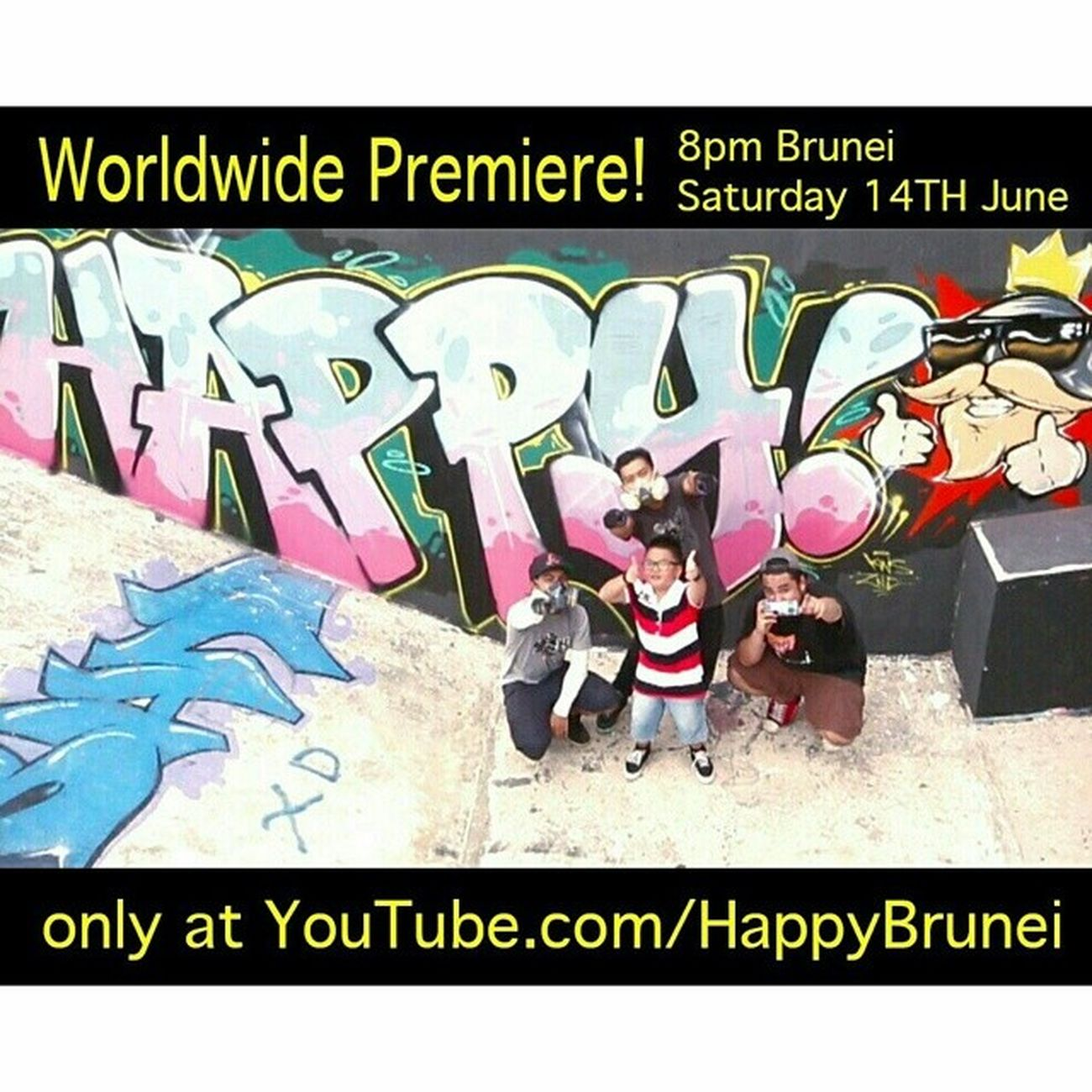 Are you ready for it? There's about less 5 hours to go so let the countdown begin! It'll be exclusively premiered on the YouTube page, so do subscribe to it now. See you soon folks! Wearehappybrunei HappyBrunei Brunei HappyBN