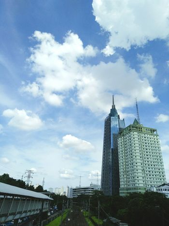 Sky scraper. View from train station in jakarta. Palmerah Cloud - Sky Skyscraper Cityskyview Urban Skyline Sky Architecture City No People Cityscape Outdoors Day Building Exterior