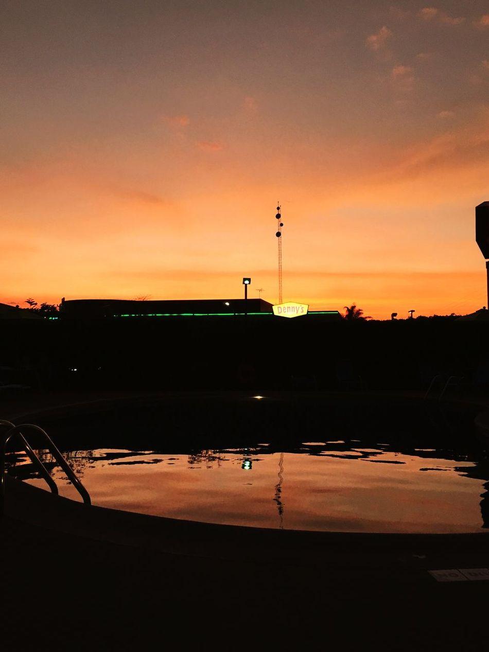 Even a Denny's can be beautiful in Costa Rica Costa Rica Palm Trees Denny's Sunset Sunset Lovers Poolside San Jose Chill Chillout Chill Mode Pura Vida Puravida