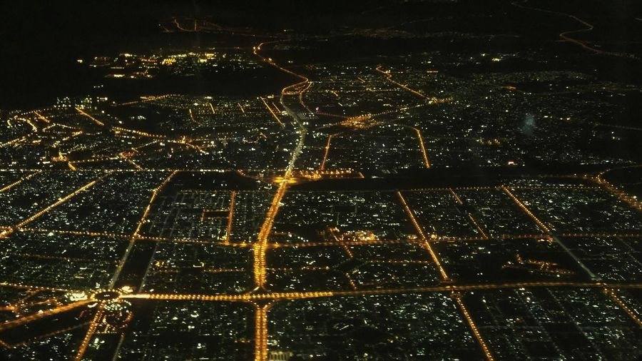 Dubai City Lights Night Lights Aerial View Night Ligths Night Landscape Birds Eye View