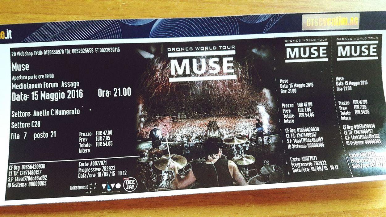 Ancora una settimana...😍 Muse Drones World Tour