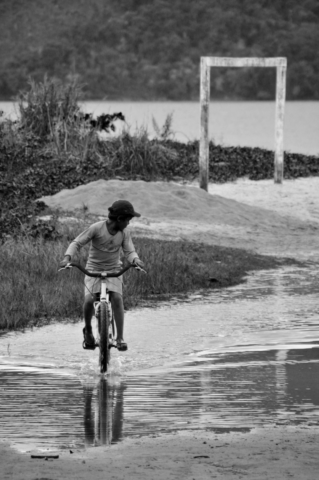 Bike Boy Brazil Natural Beauty Day One Person Outdoors Sand Water
