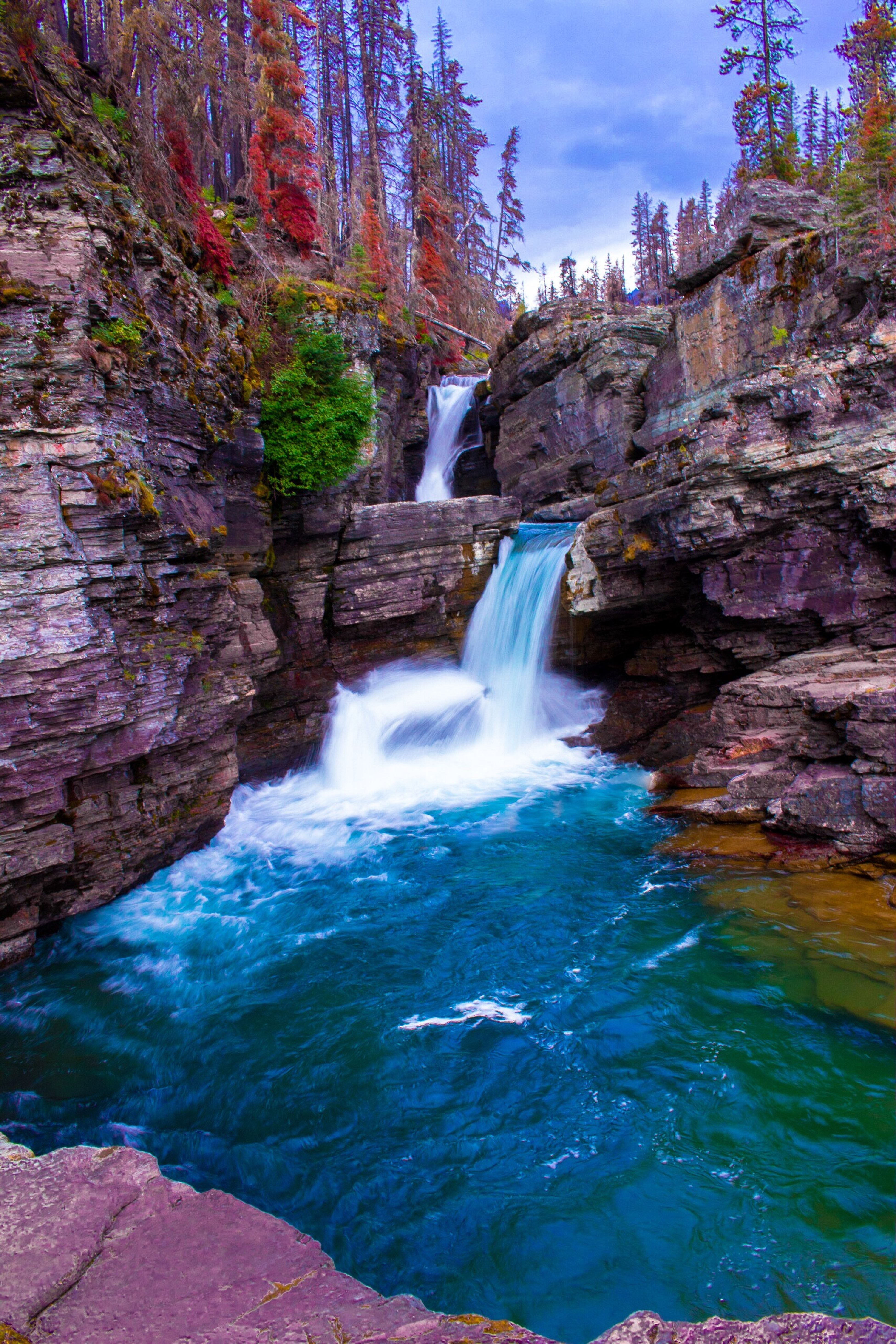 glacier national park montana Waterfall Glacier National Park Glaciernationalparkmontana Natgeotravel Natgeotravelpic Natgeo Travel Montana Travel Photography Glaciernps Montanamoment Explore Montana Goingtothesunroad Mountain Vibes Montana Waterfall Montana Photography Outdoor Photography EyeEm Nature Lover