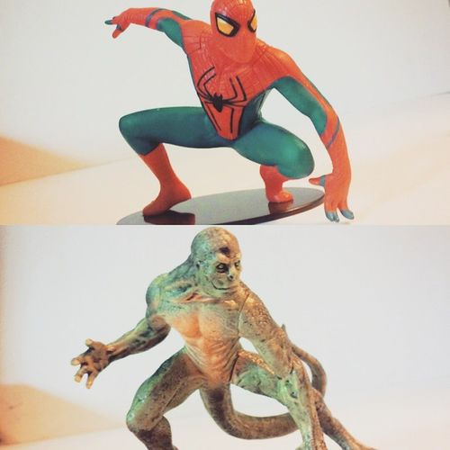 Super happy got these two statues for a good deal! I love it,really badass 😄 Spideyverse Movies Spidey Amazingspiderman Spiderman TheLizard Drconors Peterparker Collector Collection Statue Marvelentertainment Nerd Comics Badass Happy Disney