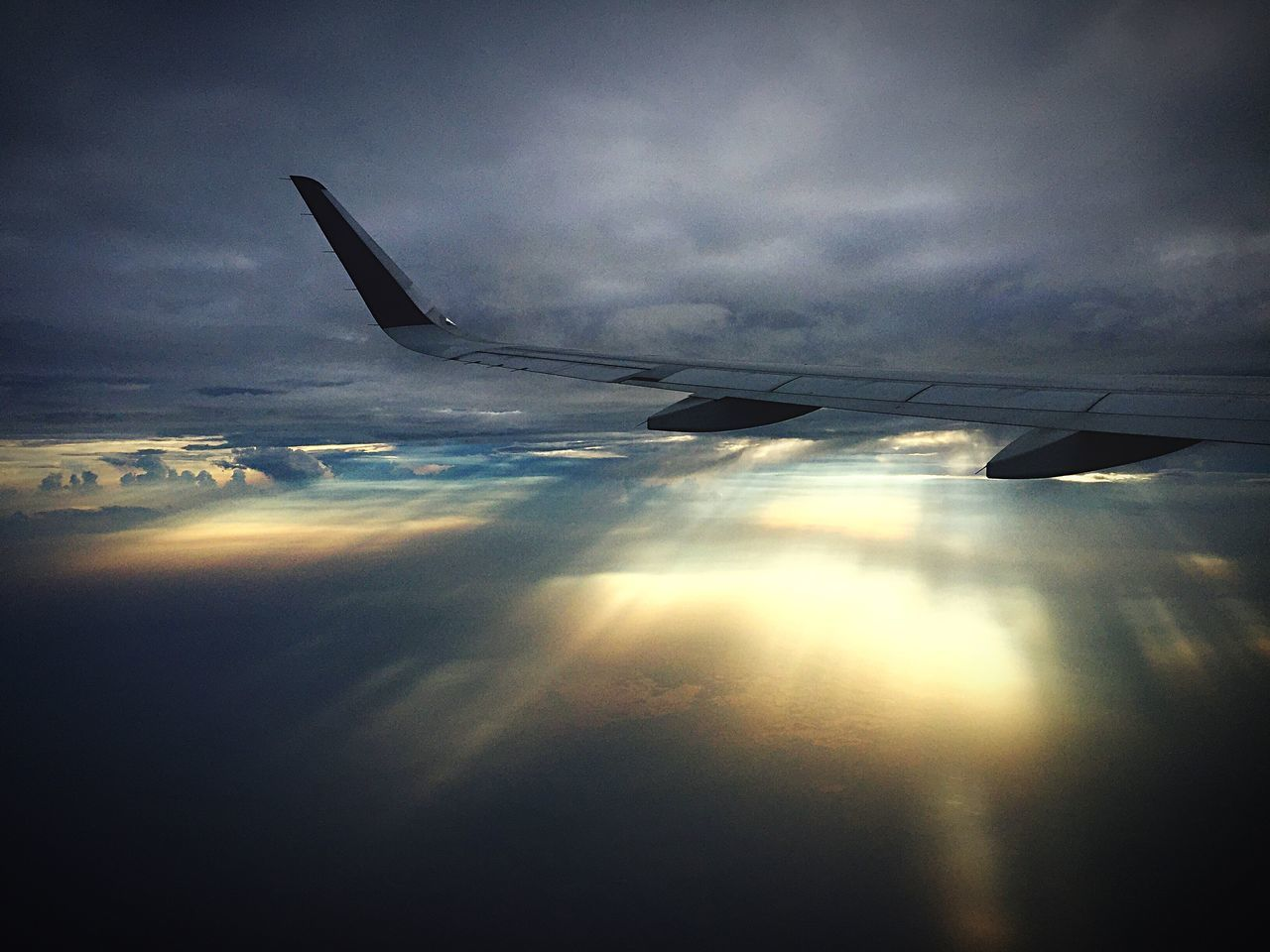 airplane, sky, transportation, cloud - sky, airplane wing, journey, no people, nature, aerial view, beauty in nature, travel, flying, outdoors, aircraft wing, air vehicle, day, scenics, close-up