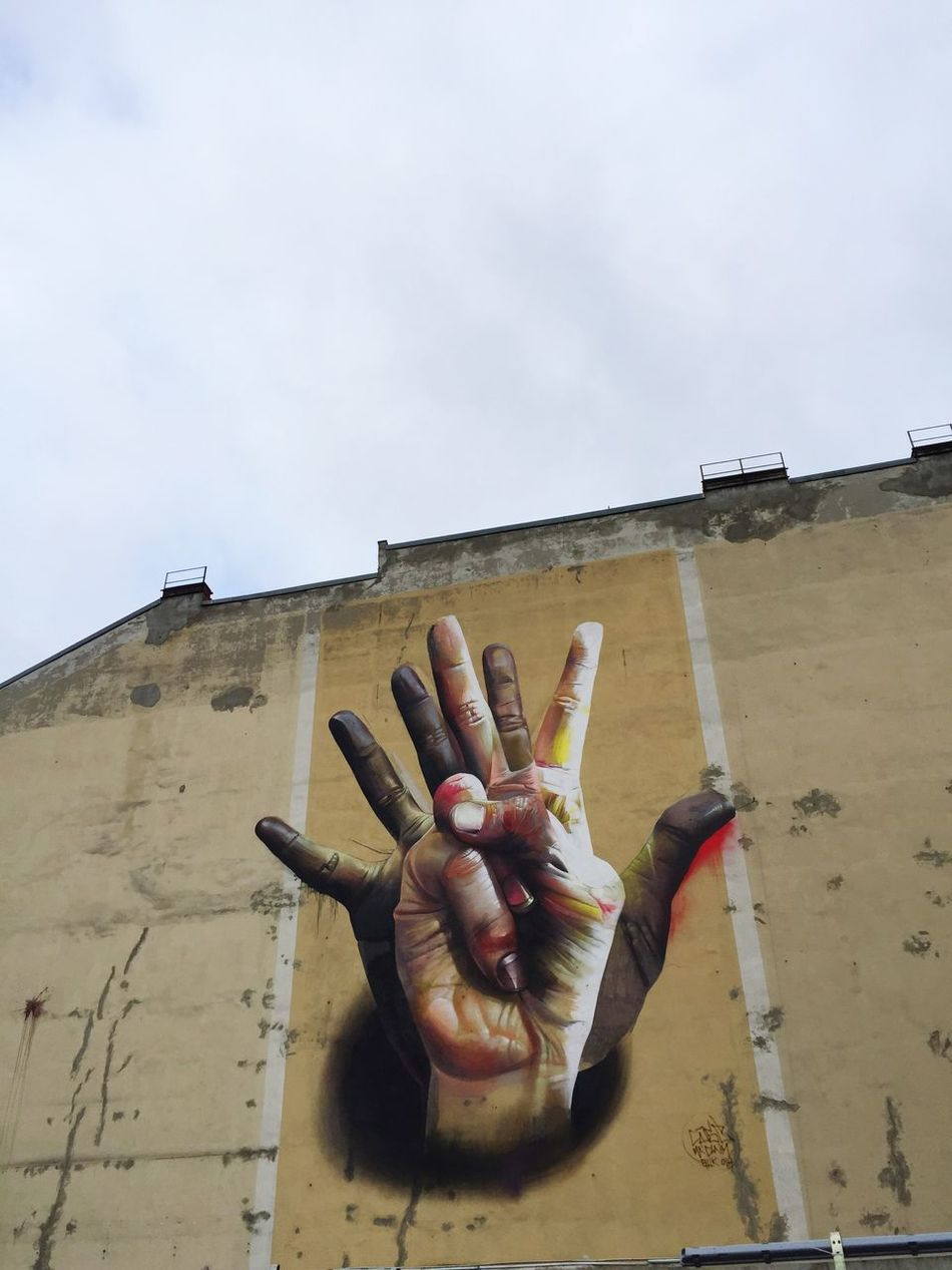 Beautiful stock photos of berliner mauer, human hand, human body part, one person, sky
