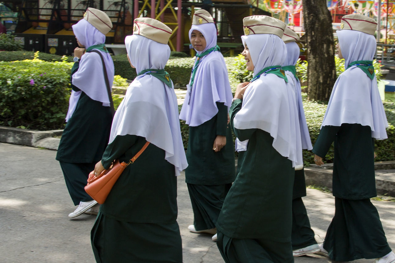 Adult Nunnery Nuns Outdoors People Real People Religion Religion And Tradition Religions Religious  Thai Thailand Thailandtravel Tradition Traditional Clothing