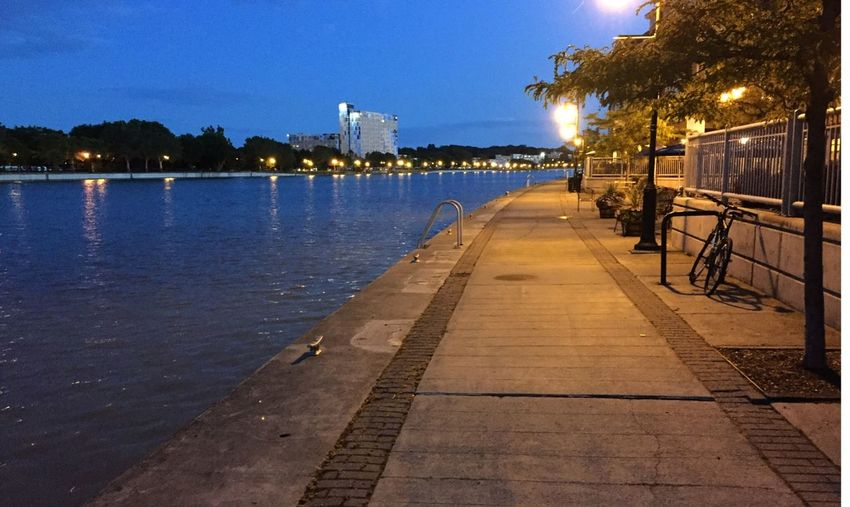 An evening stroll... Tranquil Scene City Rochester, NY Genessee River