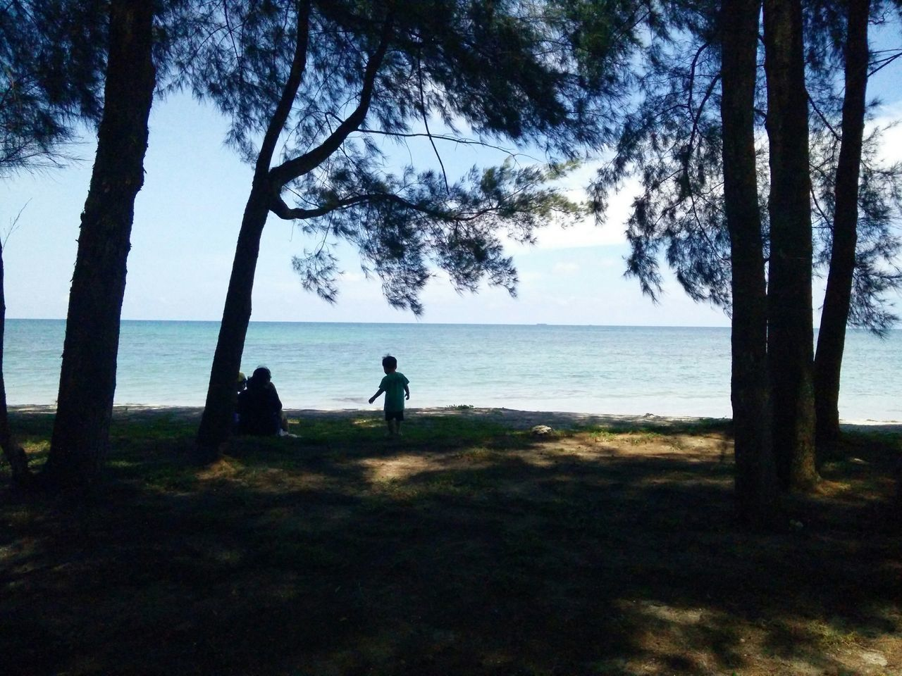 Outings.. Sunshine Mobile Photography The Purist (no Edit, No Filter) Point Of View Light And Shadow Beach Sea Blue Sky