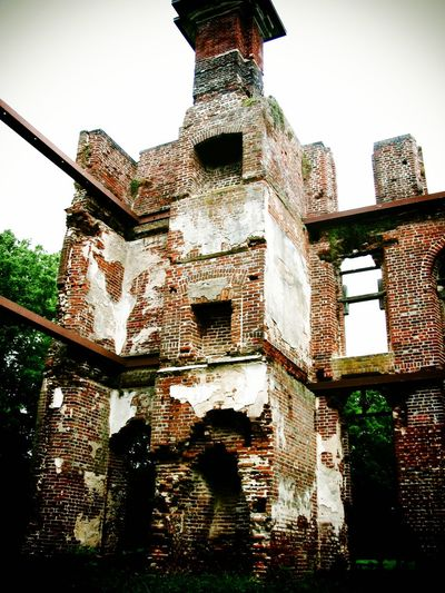 The Ruins of Rosewell Architecture Brick Wall Built Structure Close-up Day Deterioration Exterior Growth Historical Building Low Angle View No People Old Outdoors Rosewell Mansion Ruin Run-down Sky The Past