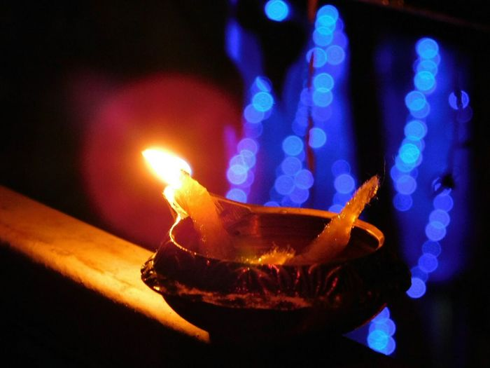 Oil Lamp Close-up Burning Flame Night Photography Night Lights Goldenlights Blue No People Diya - Oil Lamp Bokeh Bokeh Photography Bokeh Background Magic Lamp Magical Lights Blured Lights EyeEmNewHere