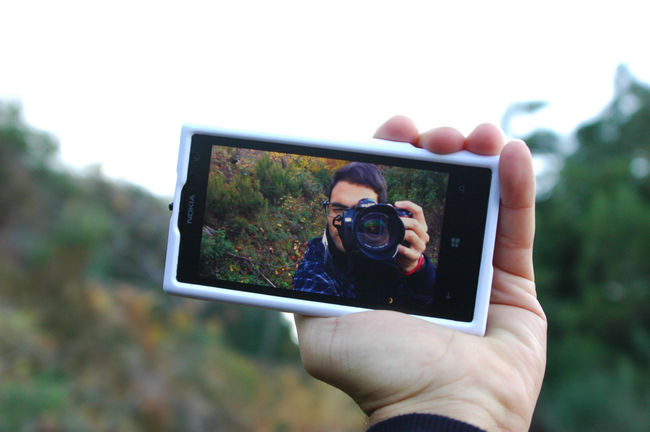 A photograph of a photograph Autumn Camera Colors Forest Macro Nature Phone PhonePhotography Photo Photography Selfie SPAIN Taking Photos