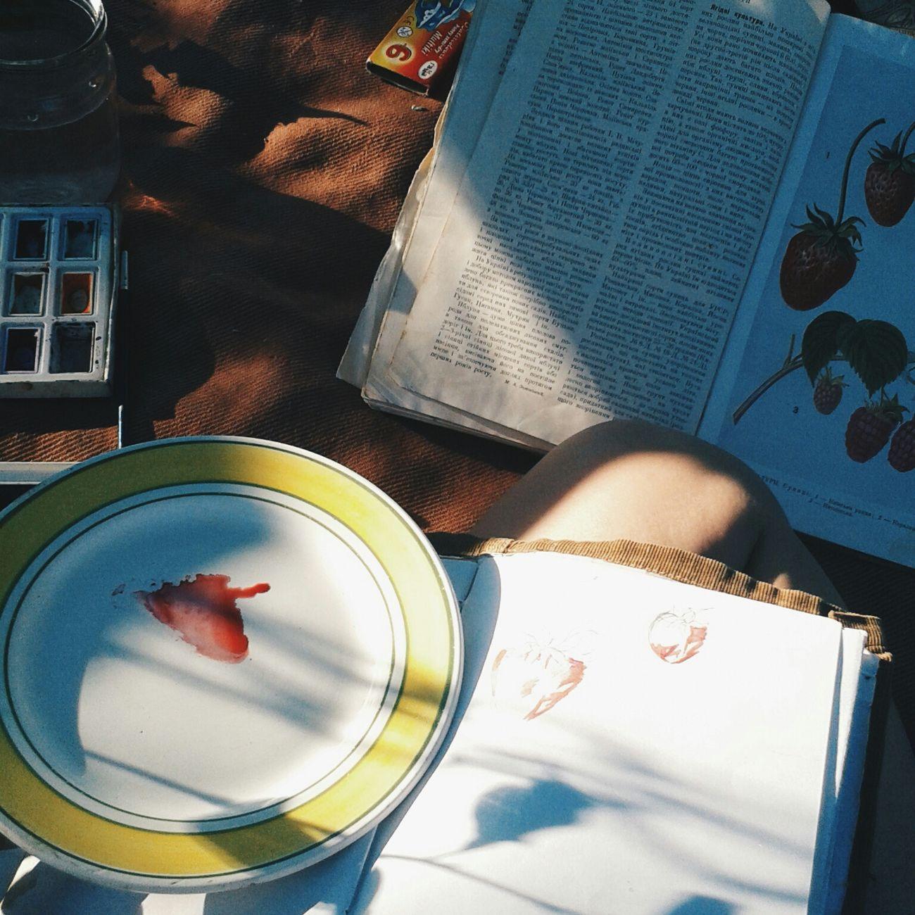 блокнот рисую краски  книга пыталась Hi! Relaxing Enjoying Life Hello World Hanging Out