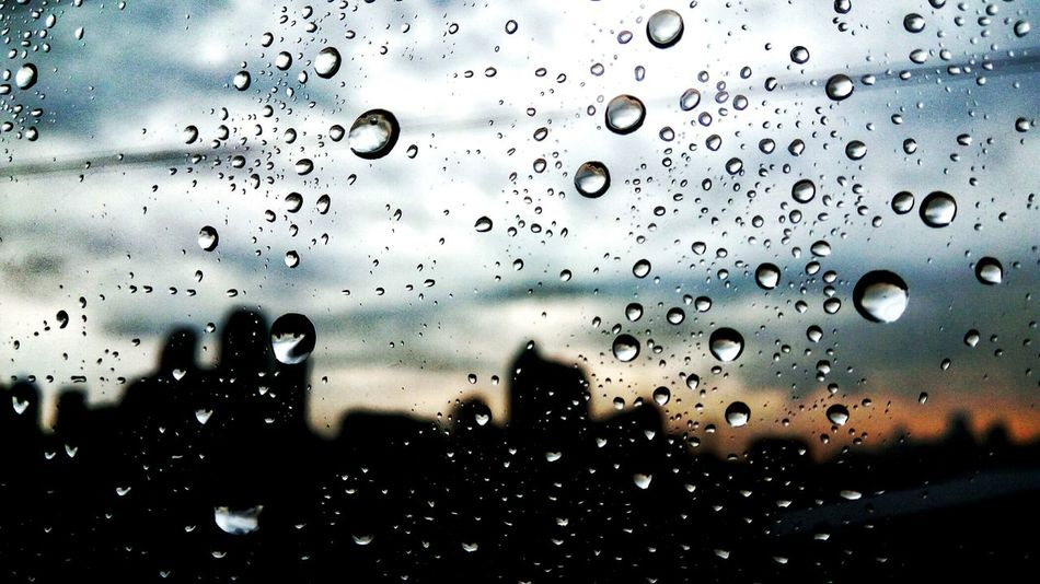 Window Drop Backgrounds Condensation Full Frame Indoors  Wet Water RainDrop No People Close-up Nature Day Purity Sky