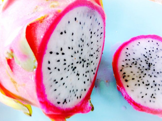 Colour Of Life Exotic Fruits Dragonfruit Food Beauty In Nature No People Natural Pattern Healthy Eating Organic Multi Colored Nature Illuminated Fruit Day Outdoors Detail White Pink
