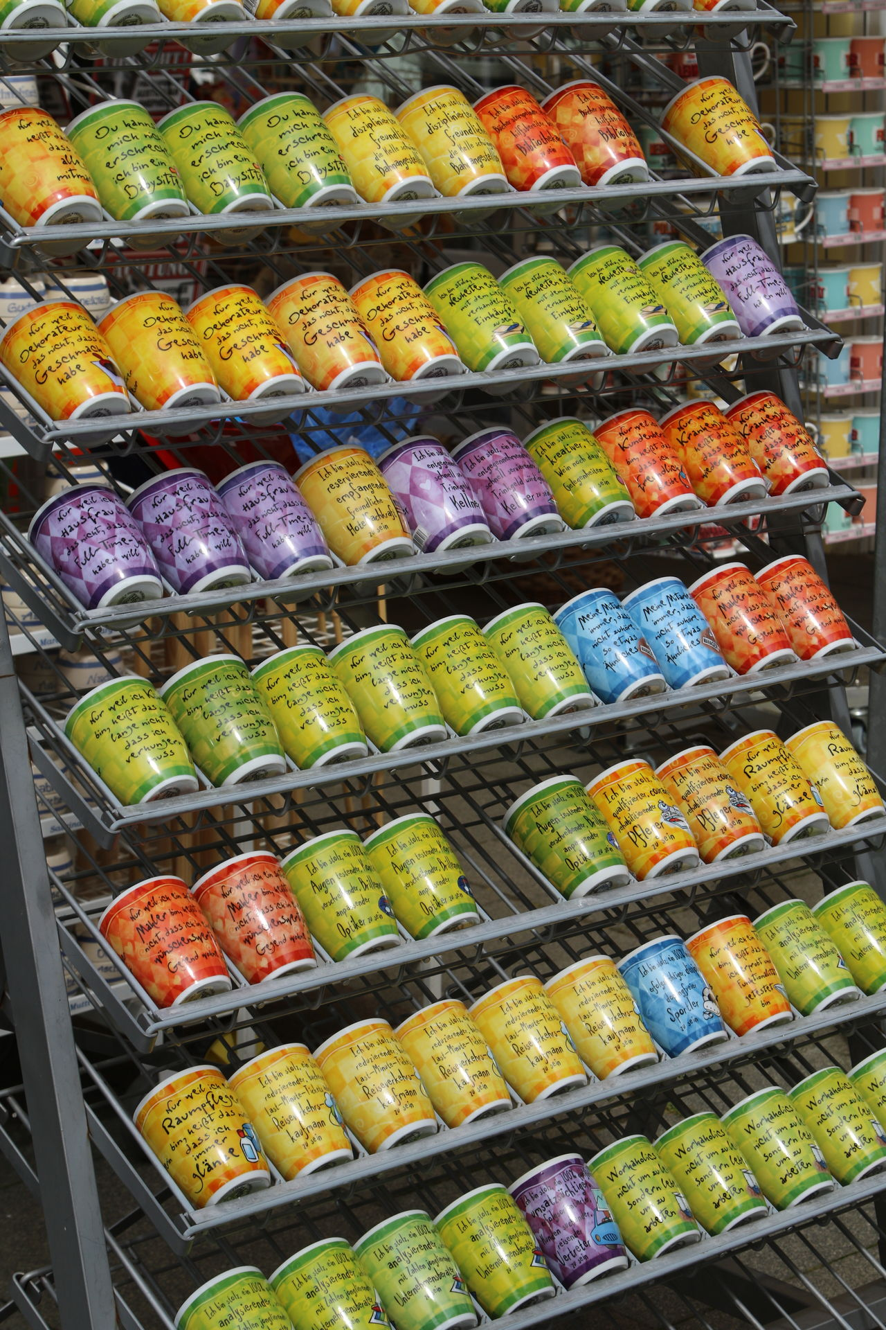 Abundance Choice Collection Cups Large Group Of Objects Market Multi Colored No People Shelf Supermarket