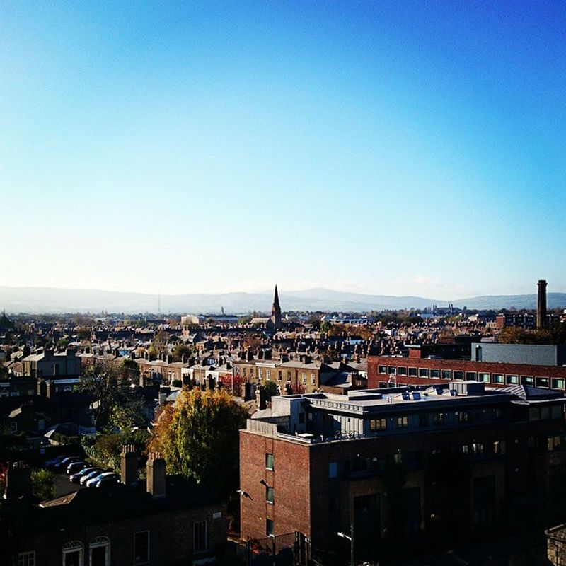 Amazing view for today's class! If only engineering was more outdoors. Electrical Engineering Dit Terrace top floor Kevin street campus