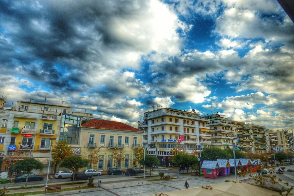 HDR Building Exterior Architecture Sky Cloud - Sky Built Structure Outdoors No People Day Kalamata Kalamata,Greece