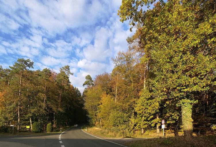Abendsonne Bayern Germany Beauty In Nature Cloud - Sky Day Herbst Himmel Und Wolken Landschaft Landstrasse Outdoors Road