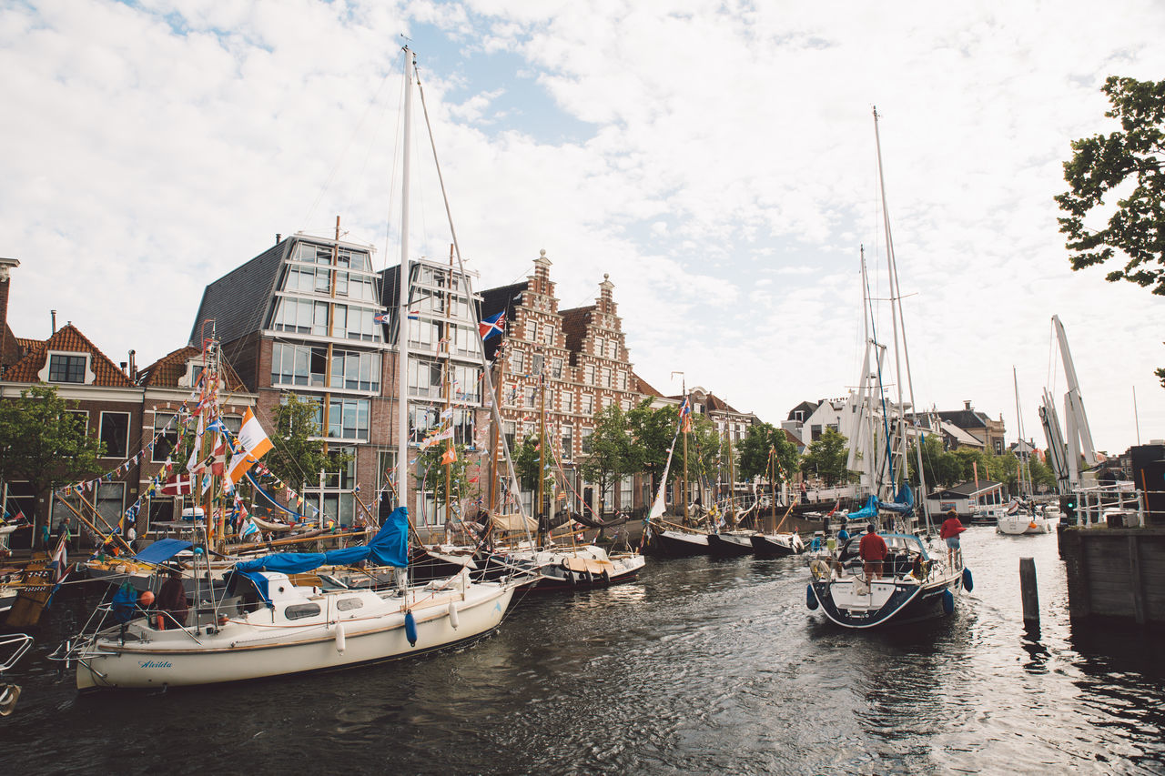 Architecture Haarlem Haarlemse Haarlemse Vaardagen 2017 Architecture Boat Boats Building Exterior Built Structure Canal Cruise Day Dutch Harbor Mast Mode Of Transport Moored Nature Nautical Vessel No People Outdoors River Sailboat Ships Sky Spaarne Transportation Vaardagen Water Waterfront