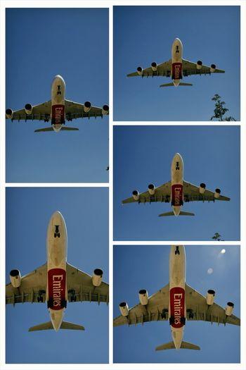 Emirates A380 landing Bcn