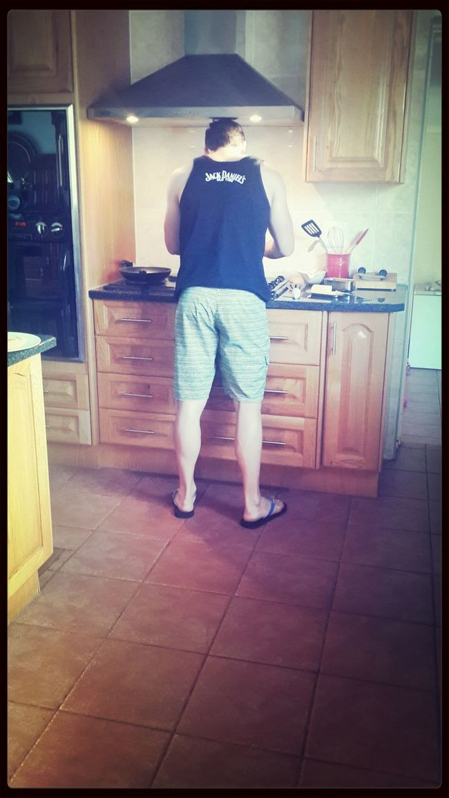Breakfast in the making. Love my BF♡ First Eyeem Photo