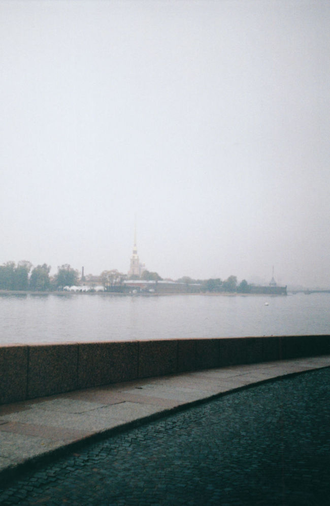 Autumn Blurred Perspective Day Film Photography Grey Sky Nature No People Old Paving Outdoors Quay Quay Of The Spit Of Vasilyevsky Island Rain Rainy Weather Scenics Selective Focus Sky The Peter And Paul Fortress The River Neva Tranquil Scene Tranquility Travel Destinations Water The Architect - 2016 EyeEm Awards