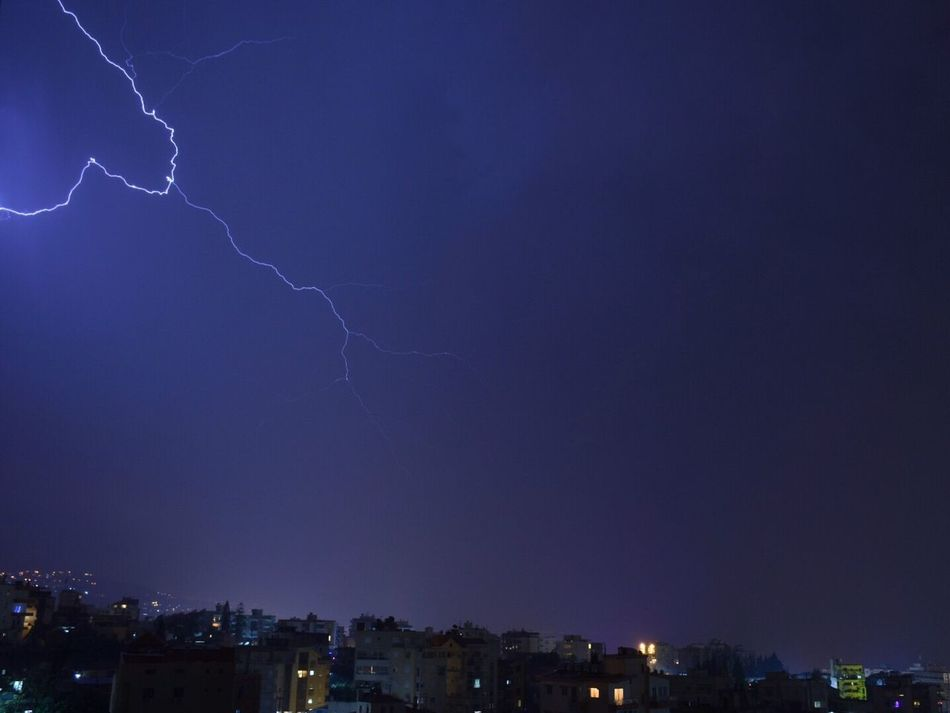 Extend your electrical fusion to reach the city. Thunderstorm Storm Stormy Weather Sky Eletric Fusion Dark Night Nightphotography Light Longexposure Urban City Byblos,Lebanon My Favorite Photo Cities At Night