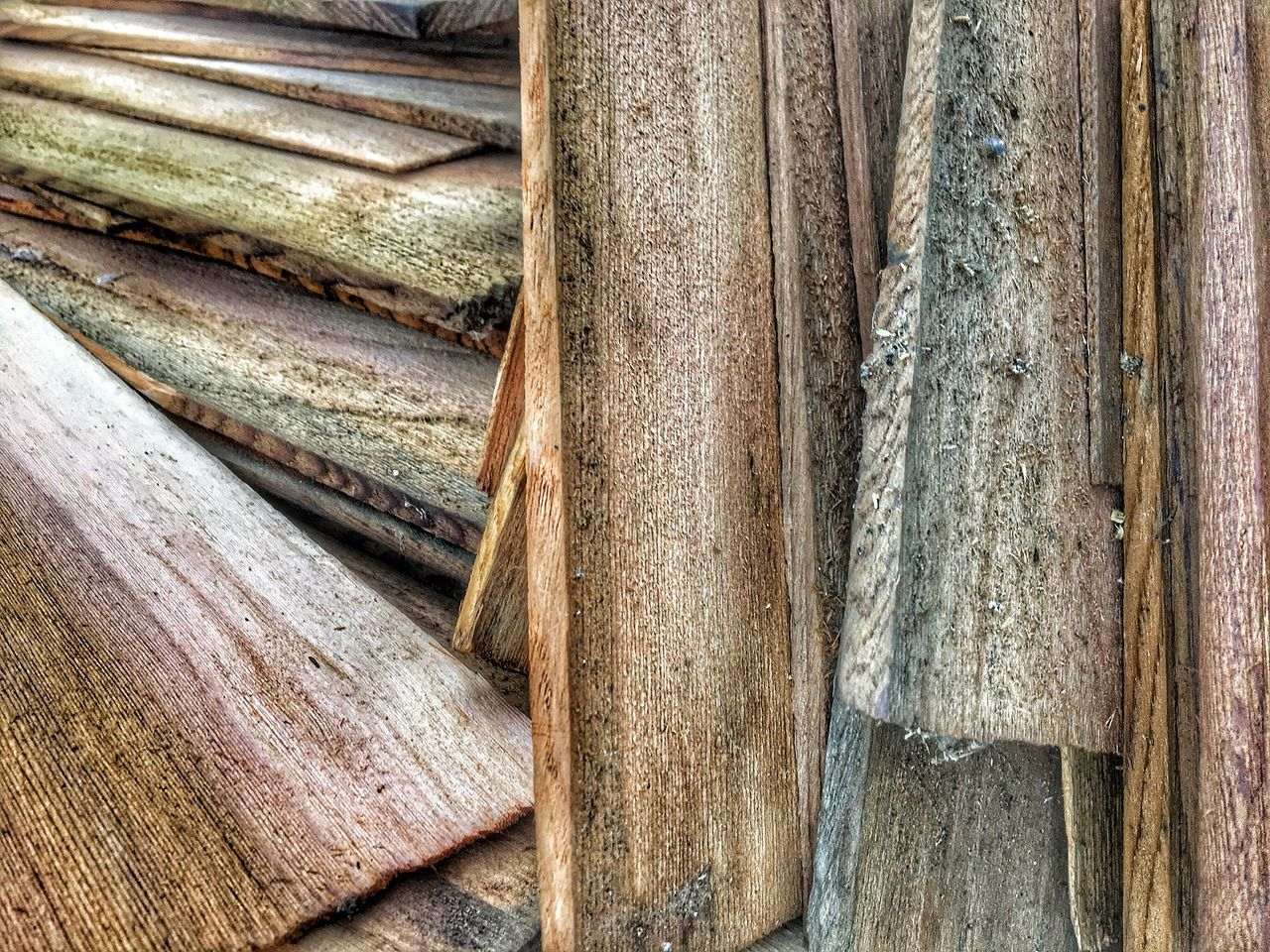Outdoors Day Wood - Material Full Frame No People Close-up Textured  Backgrounds Nature Used Shingles